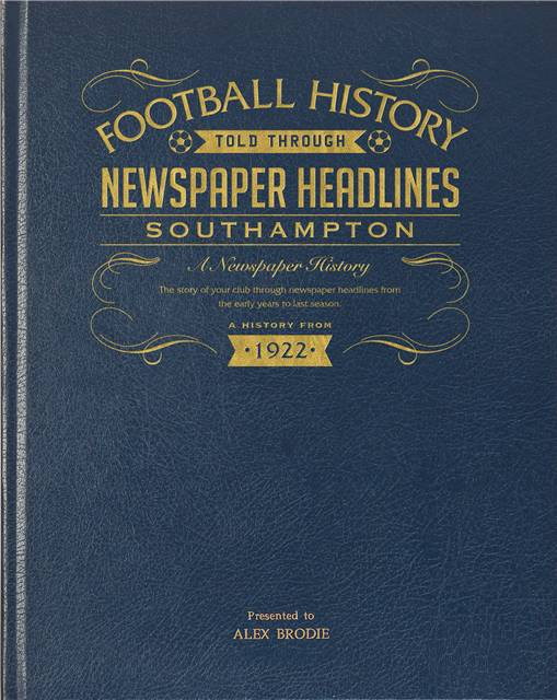 southampton wednesday newspaper book blue leather cover
