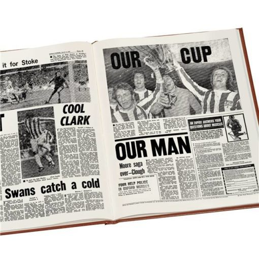 stoke city newspaper book brown leatherette