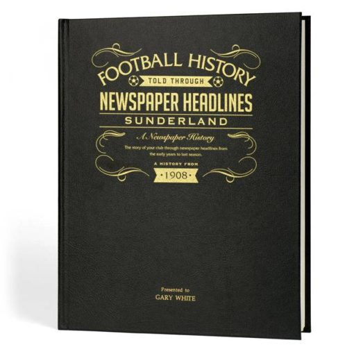 sunderland newspaper book black leather cover