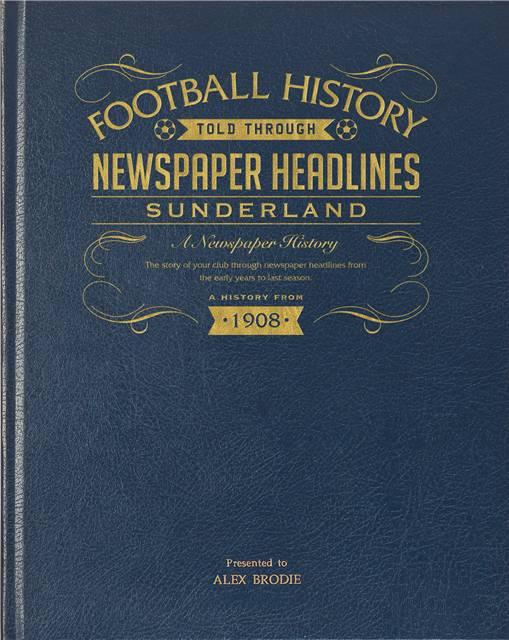 sunderland newspaper book blue leather cover