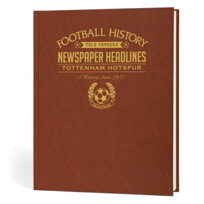 tottenham hotspur newspaper book brown leatherette colour pages