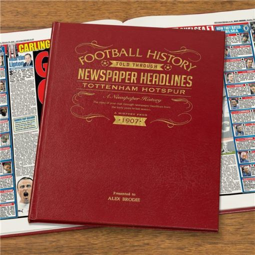 tottenham hotspur newspaper book red leather cover