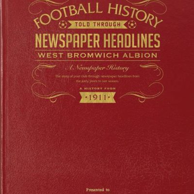 west bromwich albion newspaper book red leather cover