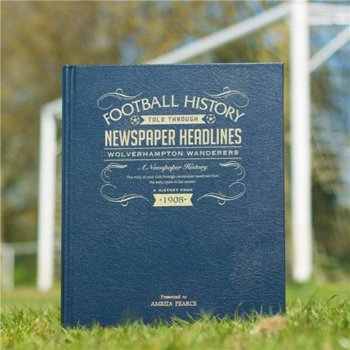 wolves newspaper book blue leather cover