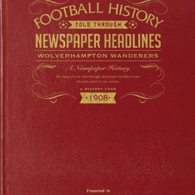 wolves newspaper book red leather cover