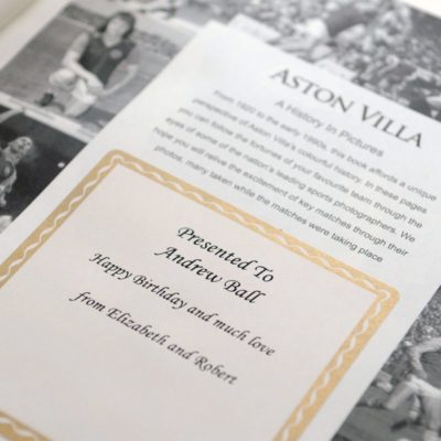 Aston Villa Football Book History in Pictures 2