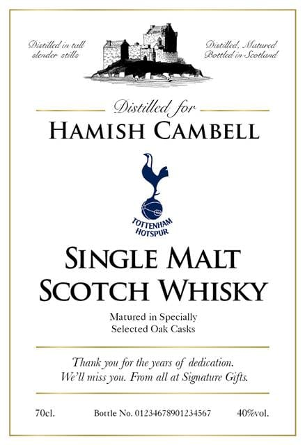 personalised spurs classic labels for single malt whisky 1