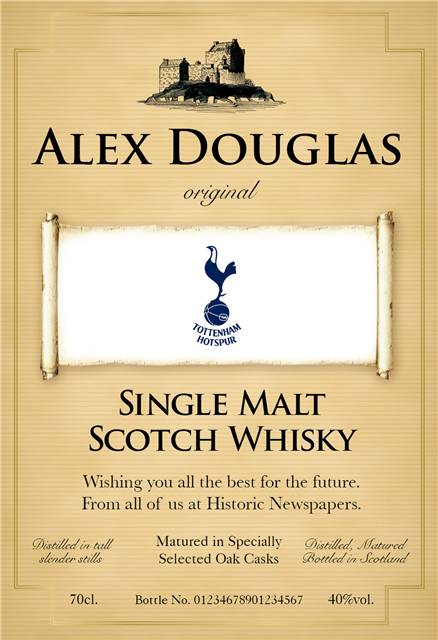 personalised spurs traditional labels for single malt whisky