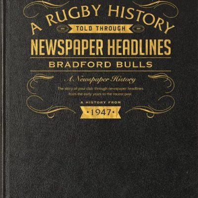 bradford bulls rugby newspaper book black leather cover