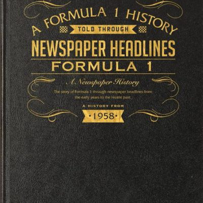 formula one newspaper book black leather cover