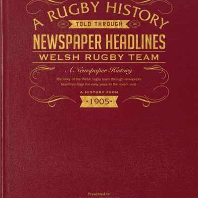 history of welsh rugby newspaper book red leather cover