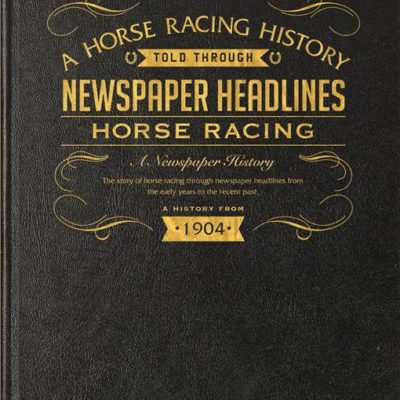 horse racing newspaper book black leather cover