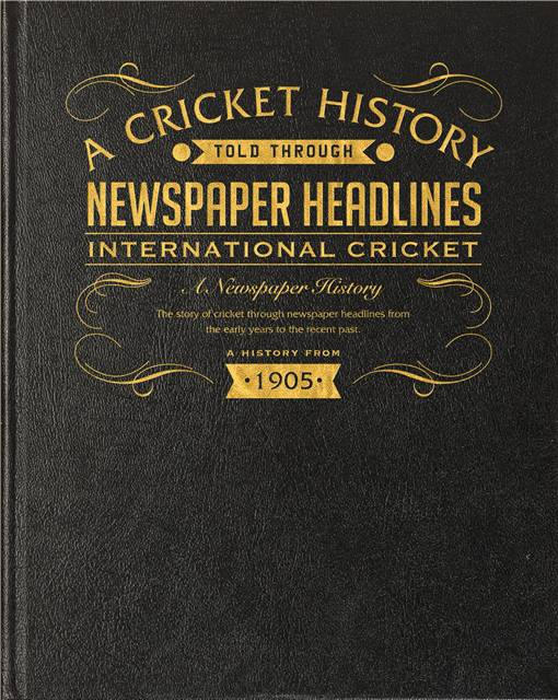 int cricket newspaper book black leather cover