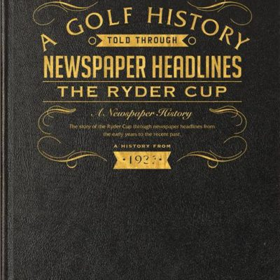 ryder cup golf newspaper book black leather cover