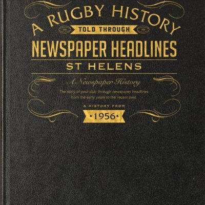 st helens rugby newspaper book black leather cover