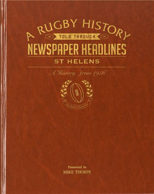 st helens rugby newspaper book brown leatherette