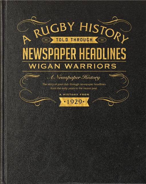 wigan warriors rugby book newspaper black leather cover
