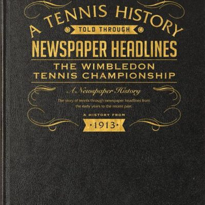 wimbledon tennis newspaper book black leather cover