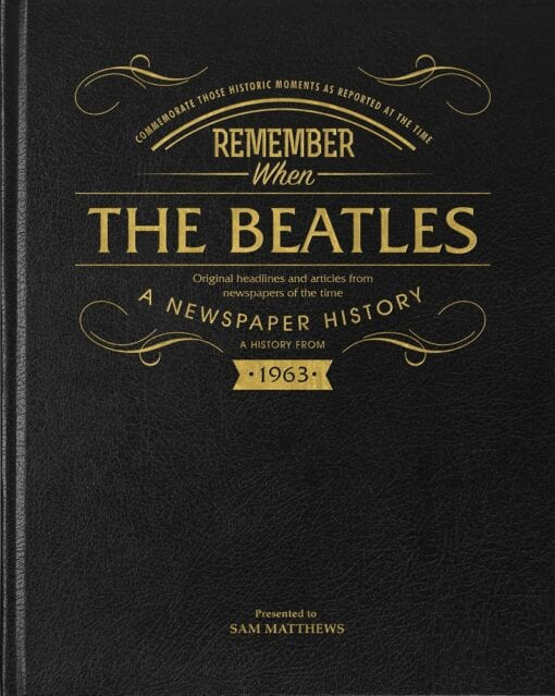 Historic Book Beatles LEATHER COVER UK ONLY