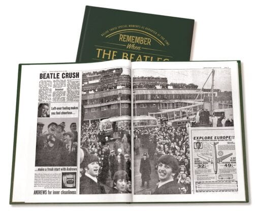 A3 Beatles Newspaper Book