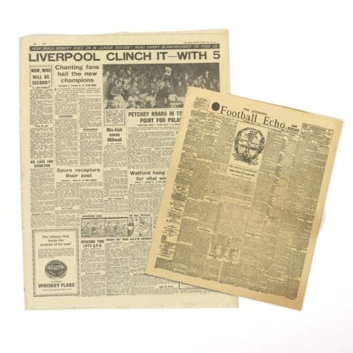Liverpool League Champions Original Newspaper Group 1