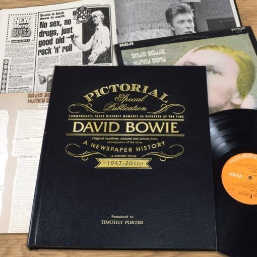Pictorial Historic Book David Bowie cover spread