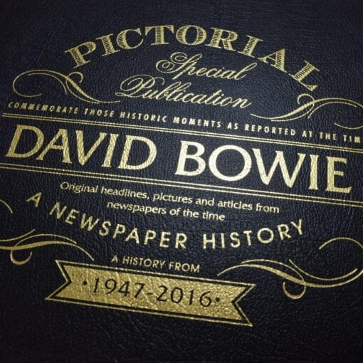 Pictorial Historic Book David Bowie closeup
