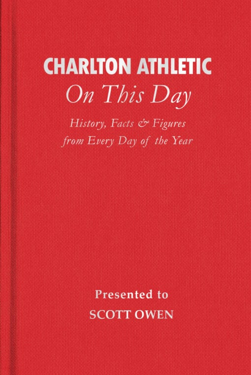 Charlton Athletic On This Day Cover flat 1
