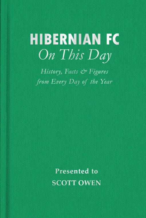 Hibernian FC On This Day Cover flat 1