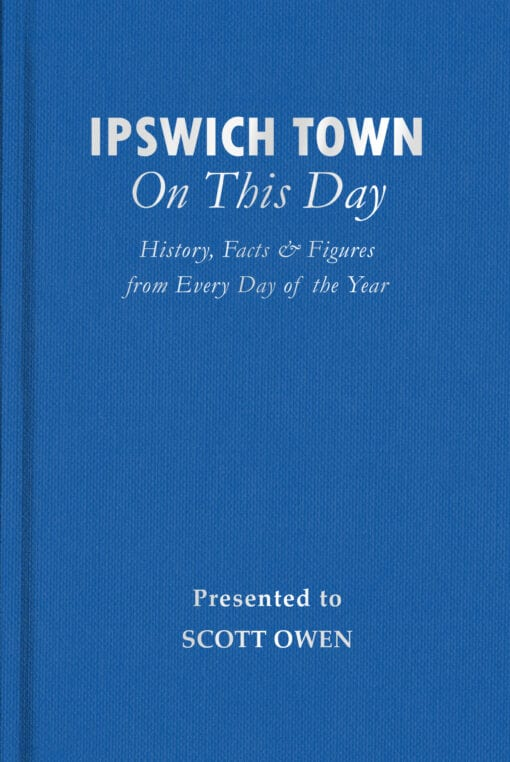 Ipswich Town On This Day Cover flat 1