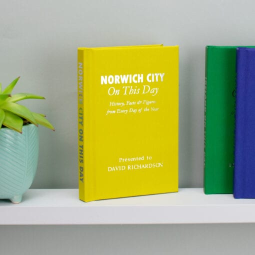 Personalised Norwich City On This Day Book