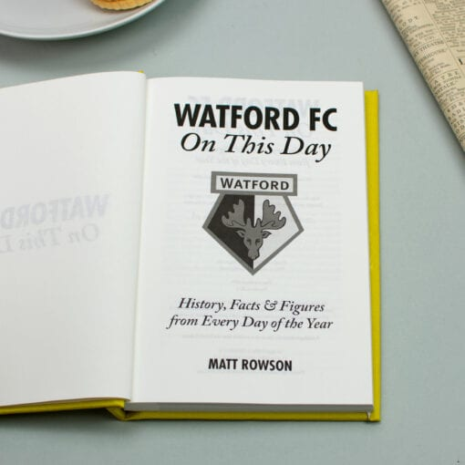 Watford FC On This Day spread