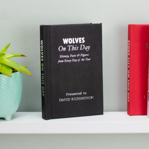 Personalised Wolves On This Day Book